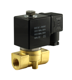 "WIC Valve 2BCK Series 3/8"" Inch NPT Normally Closed Brass Electric Zero Differential Solenod Water Valve"