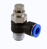 WIC Valve PCV Series Composite Air Speed Control Valve Quick Release Push In Fitting