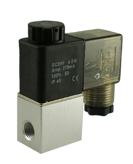 "WIC Valve 2ACK Series 1/4"" Inch NPT Normally Closed Solenoid Air Valve DIN Connector"