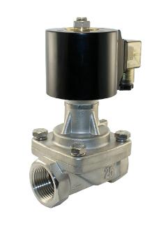 "WIC Valve 2SCL Series 1"" Inch NPT Stainless Normally Closed Hot Water Steam Zero Differential Solenoid Valve"