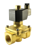 "WIC Valve 2BOW Series 1-1/4"" Inch NPT Normally Open Brass Zero Differential Solenoid Water Valve"