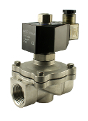 WIC Valve 2SOW Series One Inch Normally Open Stainless Steel Electric Air Water Solenoid Valve