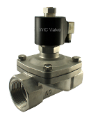 WIC Valve 2SOW Series 2 Inch Stainless Electric Air Water Zero Differential Solenoid Valve Normally Open