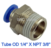 WIC Valve PMC Series Composite Male Straight Connector Fitting
