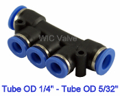WIC Valve PMU Series Pneumatic manifold Union Connector One Touch Air Push In Fitting