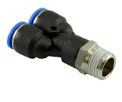 WIC Valve Composite Y Connector Pneumatic Push In Fitting