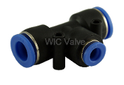 WIC Valve PRTU Series Pneumatic Reduced tee Union Quick Release Air Push In Fitting