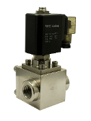 WIC Valve 2SCE Series High Pressure Stainless Steel Electric Solenoid Steam Valve 1450 PSI