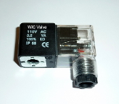 WIC Valve VC Series 110V AC Continuous Duty CE encapsulated Solenoid Coil DIN Connector