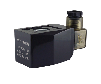 WIC Valve 2P Series 110V AC Low Power Consumption Power Save Class H IP 65 Continuous Duty CE Certification Solenoid Coil