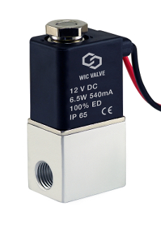 "WIC Valve 2ACK Series 1/8"" Inch NPT Normally Closed Anodized Aluminum Electric directional Solenoid Air Valve"
