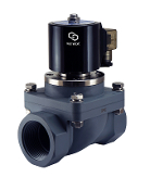 WIC Valve 2PCZ Series CPVC Plastic Normally Closed Anti Corrosion Acid Salt Water Resistant CPVC Electric Solenoid Valve