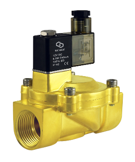 "WIC Valve 2BCV Series 3/4"" Three Quarter Inch NPT Normally Closed Low Power Consumption Brass Solenoid Valve"
