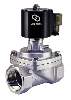 WIC Valve 2SCL Series Normally Closed Zero Differential Solenoid Stainless Steel Brewing Steam Valve