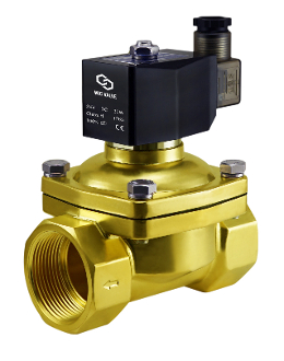 "WIC Valve 2BCW Series 1-1/2"" Inch NPT Normally Closed Brass Zero Differentail Water Solenoid Valve"