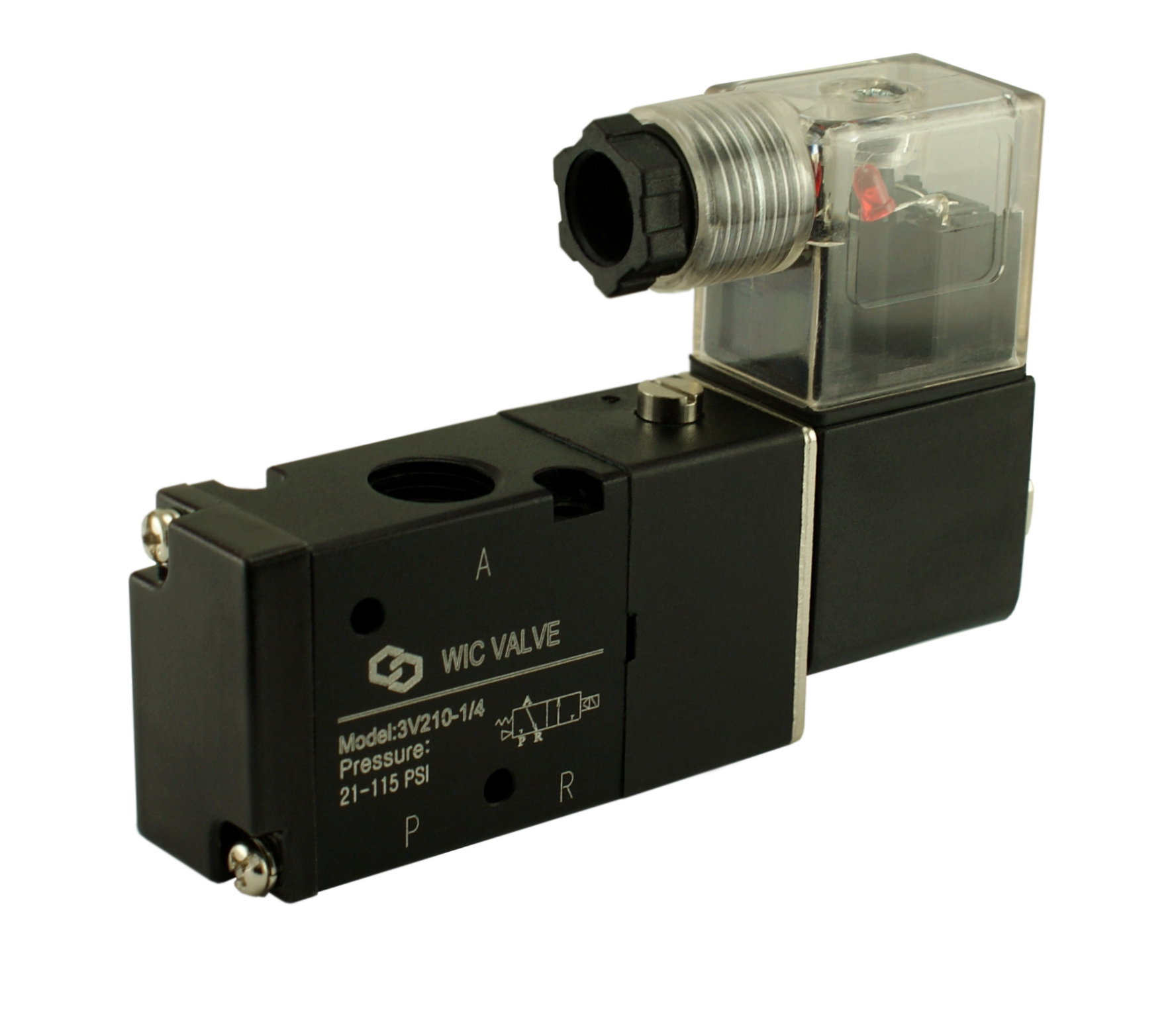 WIC Valve 3V210 Series 3 Way Directional Control Air Solenoid Valve directional control solenoid valve, 3 way air valve, pneumatic valve smc solenoid valve wiring diagram at readyjetset.co