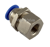 WIC Valve PBC Series Bulkhead Connector Quick Release Push In Fitting