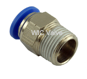 WIC Valve PMC Series Composite Male Straight Connector Imperial Fitting