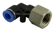 WIC Valve Composite Female Elbow Air Tube Push In Fitting