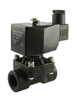 Normally Closed PA 66 Plastic Electric Water Diaphragm Solenoid Valve