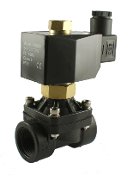 Normally Open PA66 Plastic Zero Differential Solenoid Valve