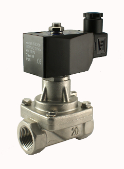 WIC Valve 2SCL Series NPT 2 Way Normally Closed Solenoid Stainless Steel Steam Valve