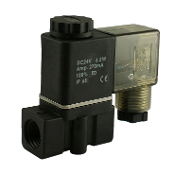 WIC Valve 2PCK Series 1/8 Inch NPT Normally Closed Engineered Plastic Air Water Solenoid Valve