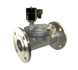 "WIC Valve 2SOD-F Series 2-1/2"" Inch Stainless Electric Air Water Gas Normally Open Solenoid Valve Flange Connection"