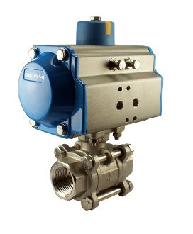 Pneumatic Single Acting Spring Return Air Actuated Ball Valve