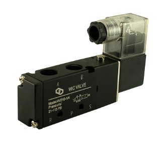 "1/4"" Inch 4 way 2 Position Pneumatic Directional Control Electric Solenoid Valve"