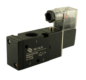 "WIC Valve 3V310 3 way 2 Position 3/8"" Inch Pneumatic Directional Control Air Solenoid Valve"