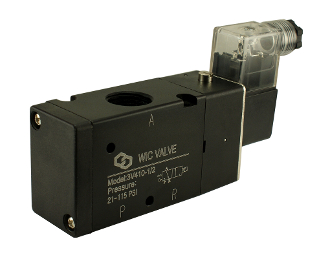 "WIC Valve 3V410 3 way 2 Position 1/2"" Inch Pneumatic Directional Control Air Solenoid Valve"