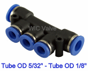WIC Valve PMU Series Pneumatic manifold Union Connector Quick Release Air Push In Fitting