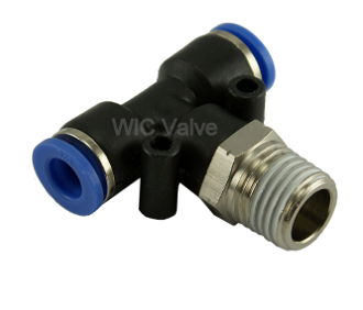 WIC Valve Composite Male Branch Tee Connector Push To Connect Fitting