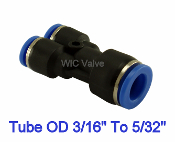 WIC Valve PRYU Series Pneumatic Reduced Y Union 3 Way Y Reducer Fitting