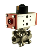PVD Series Half Inch Double Acting Pneumatic Air Actuated Ball Valve