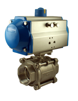 WIC Valve PVS Series Pneumatic Single Acting Air Actuated Ball Valve