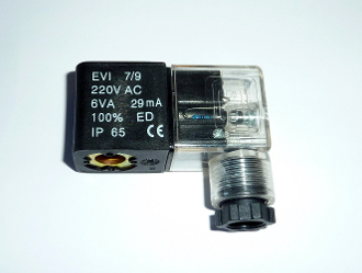 220V AC Continuous Duty CE encapsulated Solenoid Coil DIN Connector