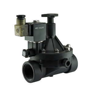 PA66 Plastic Flow Control Electric Solenoid Valve Manual Override