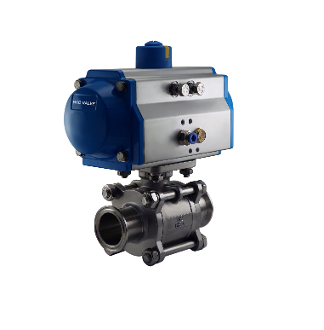 Air Actuated Tri Clamp Valve, Pneumatic Sanitary Ball Valve