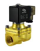 WIC Valve 2BCW Series 3/4 Inch General Purpose Normally Closed Brass Solenoid Air Water Valve