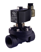 WIC Valve 2POG Series 1 Inch Normally Open PA66 Plastic Water Solenoid Process Valve