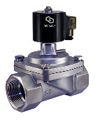 "WIC Valve 2SCL Series 2"" Inch Normally Closed Stainless Steel Zero Differential Steam Solenoid Valve"