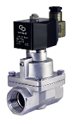 WIC Valve 2SCM Series One Inch Stainless High Pressure Electric Steam Solenoid Process Valve