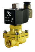 Normally Open Brass Zero Differential Electric Solenoid Valve