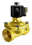 2 Inch Normally Open Brass Zero Differential Solenoid Valve