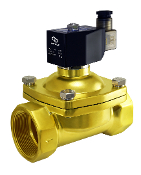 "2"" Inch NPT Normally Closed Brass General Purpose Zero Differential Air Water Gas Electric Solenoid Valve"