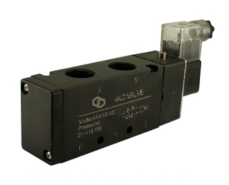 "WIC Valve 4V410 Series 1/2"" Inch NPT 4 way 2 Position Pneumatic in-line Directional Control Solenoid Valve"