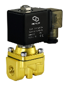 Brass High Flow Solenoid Air Water Process Valve
