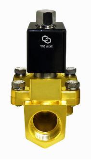 "Normally Open High Pressure 188 PSI Brass Electric Solenoid Valve 1//2/"" 110V AC"